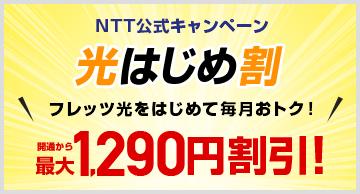 NTT公式キャンペーン 光もっともっと割 長く使えば、もっと、もっと、安くなる! 開通から最大1,790円割引!